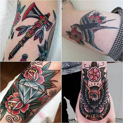Татуировки стиль олд скул