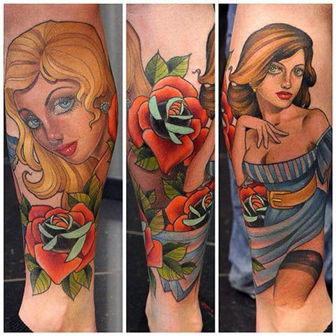 Татуировки олд скул - фото