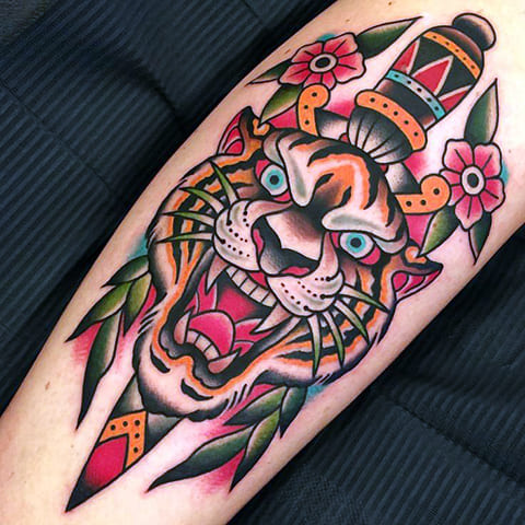 Татуировка олд скул