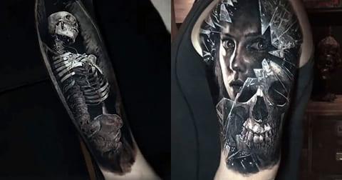 Татуировки на руках в стиле реализм - фото