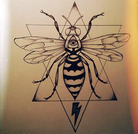 Эскиз осы для тату