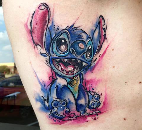 Фото татуировки в стиле акварель