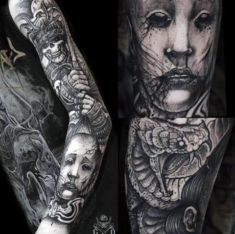 Татуировки в готическом стиле