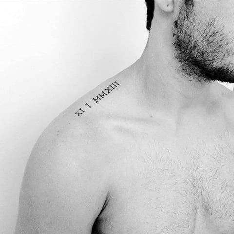 Татуировка минимализм мужская
