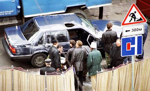 На месте убийства Виктора Новоселова