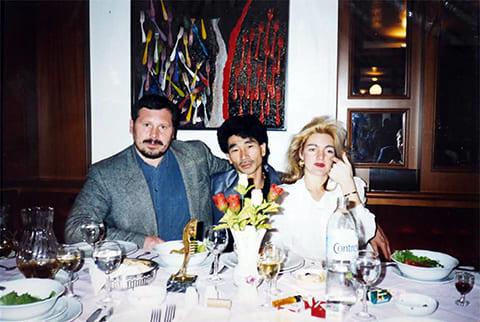 Слева: криминальный авторитет Павел Кудрящов (Кудряш) и член Якудза Киничи Камиясу