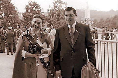 Галина Брежнева и её муж Юрий Чурбанов