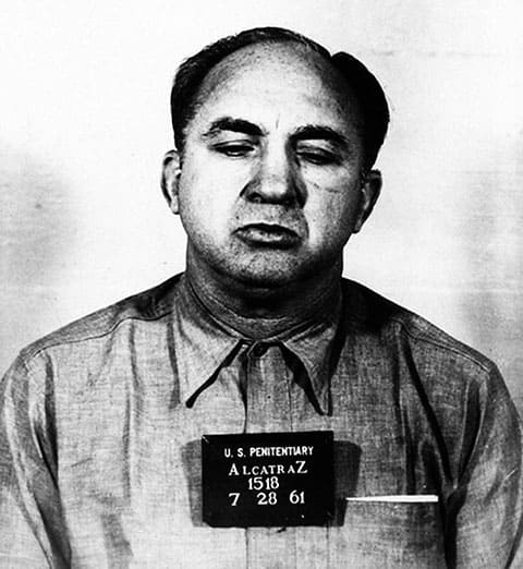 Микки Коэн - фото из полицейского участка