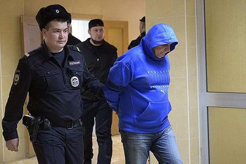 Захарий Калашов (Шакро Молодой) в Никулинском суде, Москва, 16.02.2018