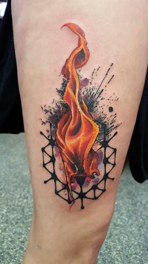 Тату пламя огня
