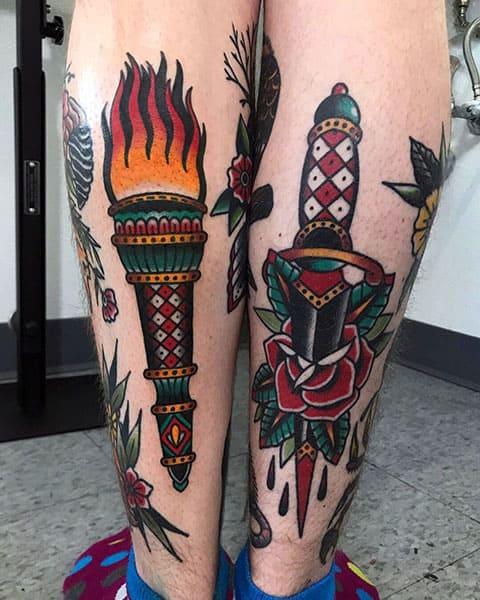Татуировка факел