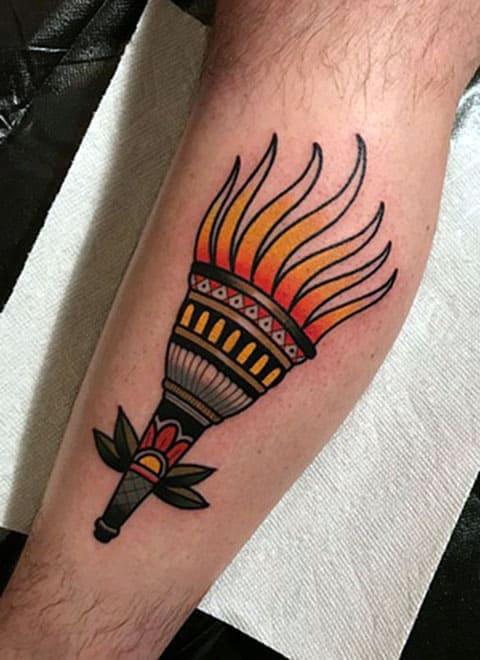 Татуировка факел - фото