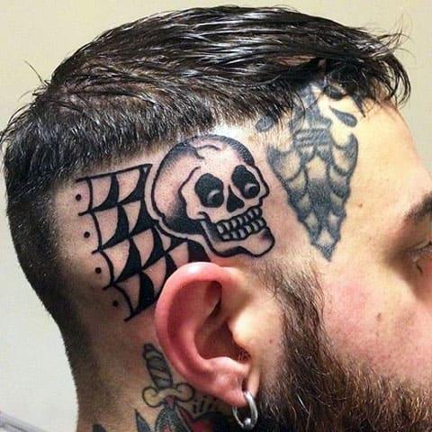 Тату на мужской голове