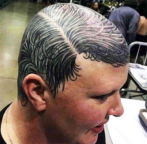 Тату волосы на голове
