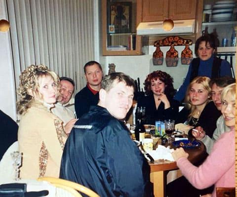 В центре: Василий Христофоров (Вася Воскрес); сзади: Сергей Разживин (Сека), Нижний Новгород (Горький)