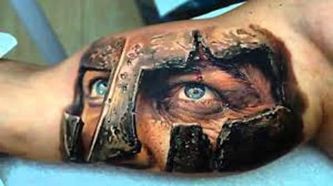 3Д татуировка на руке