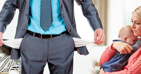Алименты если муж официально не работает