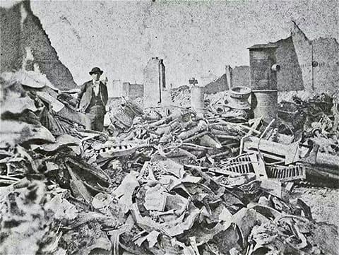 Чикаго после Великого пожара 1871 года