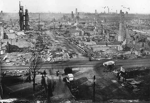 Чикаго после пожара 1871 года