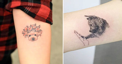 Татуировки с собаками - фото