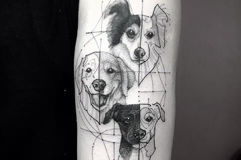Татуировка с собаками