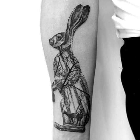 Тату заяц