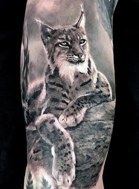 Татуировка рысь - фото