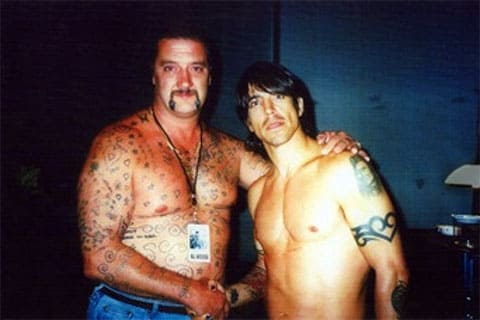 Марк Чоппер Рид с фронтменом Red Hot Chili Peppers Энтони Кидисом