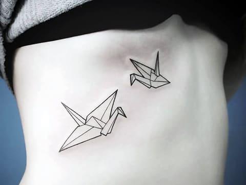 Татуировка оригами