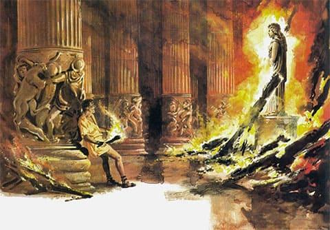 Поджог храма Артемиды Геростратом