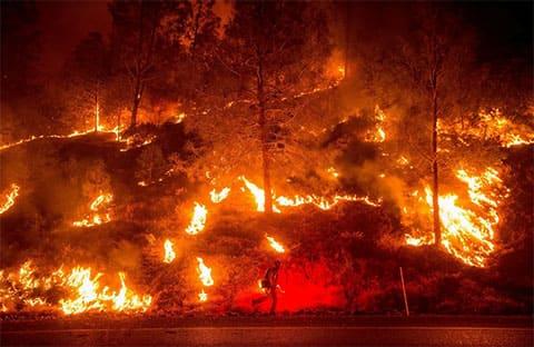 Самые крупные пожары