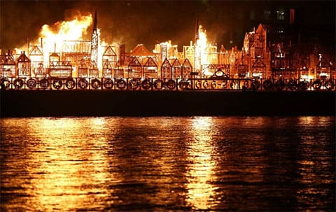 1666 год - пожар в Лондоне
