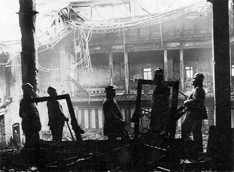 На месте поджога Рейхстага