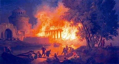 Пожар в Риме во времена Нерона