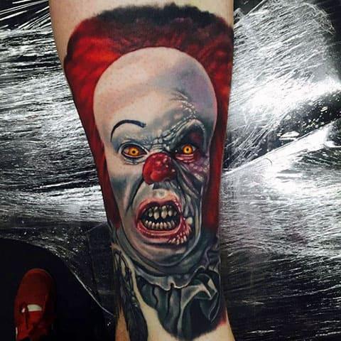 Тату страшный клоун