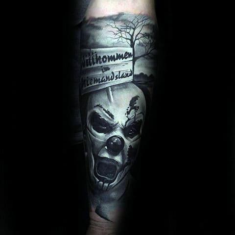 Татуировка страшный клоун