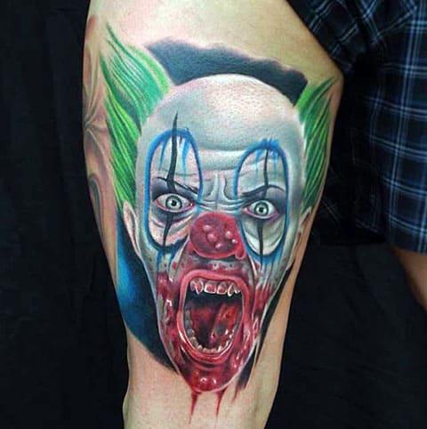 Татуировка с клоуном