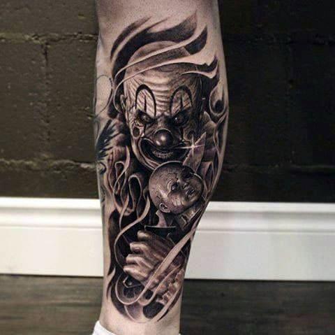 Татуировка злой клоун