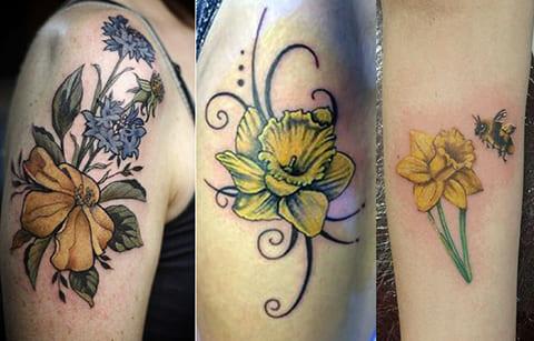 Татуировки нарцисс