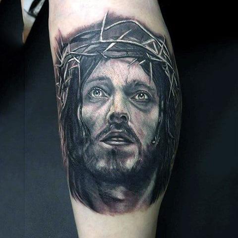Татуировка Иисус Христос