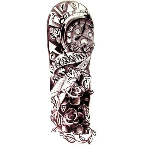 Тату-рукав для мужчин - эскизы черно белые