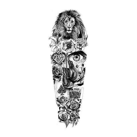 Эскиз тату-рукав для мужчин
