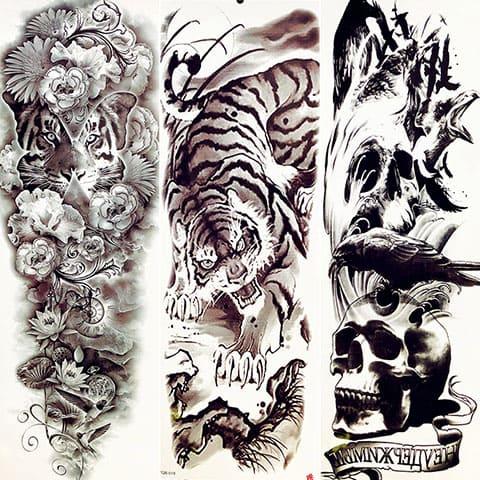 Эскизы тату-рукавов для мужчин