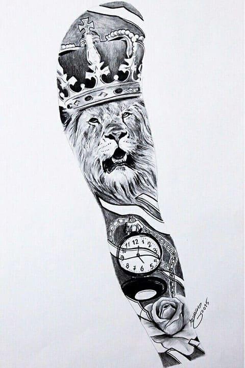 Эскиз для тату-рукав мужчин