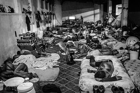 Заключенные из района La Guerrilla