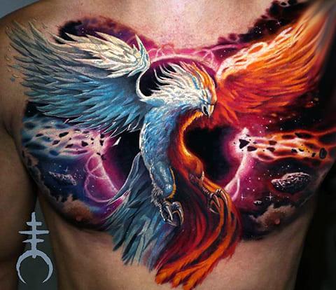 Татуировка с фениксом