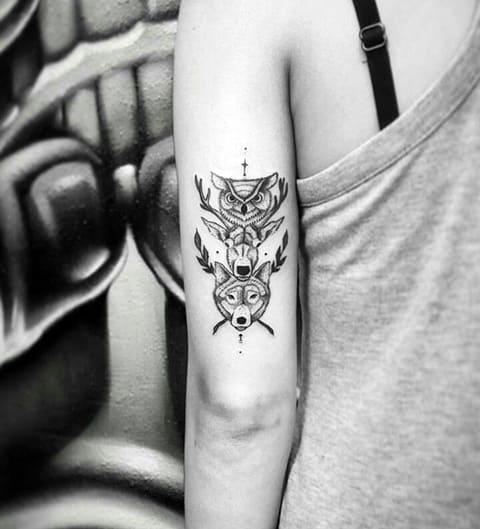 Татуировка тотема - фото