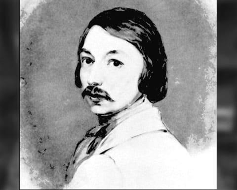 Николай Гоголь в молодости