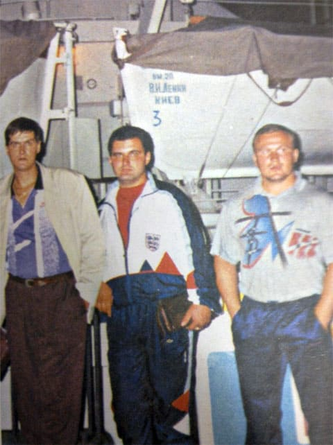 Слева: Константин Власюк (Хромой), Олег Козлов (Чахлый) и Андрей Боровиков (Боровик)