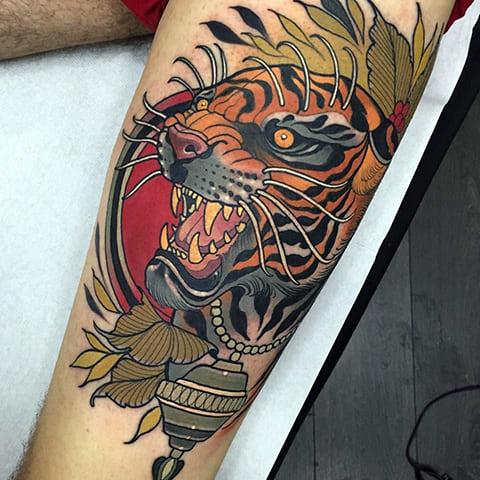 Татуировка оскал тигра